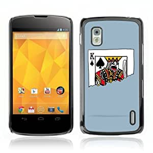 Designer Depo Hard Protection Case for LG Nexus 4 E960 / King of Spades