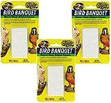 Zoo Med Mineral Block Original Formula Banquet Bird Food, 5-Ounce (3 Pack)