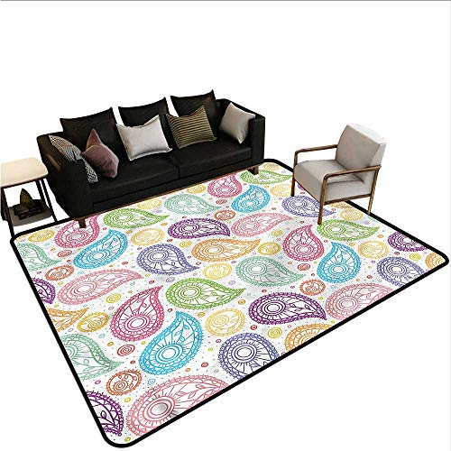 - Paisley,Outdoor Kitchen Room Floor Mat 36