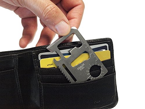 Weekend Warrior 12 in 1 Wallet Multi Tool Credit Card Size Pocket Bottle Opener Knife Screwdriver