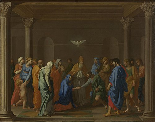 Oil Painting 'Nicolas Poussin Marriage', 18 x 23 inch / 46 x 58 cm , on High Definition HD canvas prints is for Gifts And Foyer, Kitchen And Laundry Room Decoration, create wall