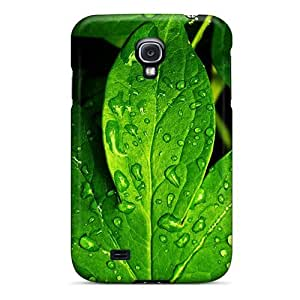 Wade-cases Design High Quality Leaves And Dew Cover Case With Excellent Style For Galaxy S4