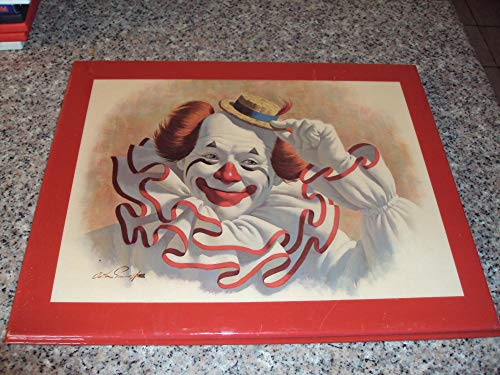 Coco the Clown by Artist Arthur Sarnoff, 1979 Clown Signed Laminated on Wood ()