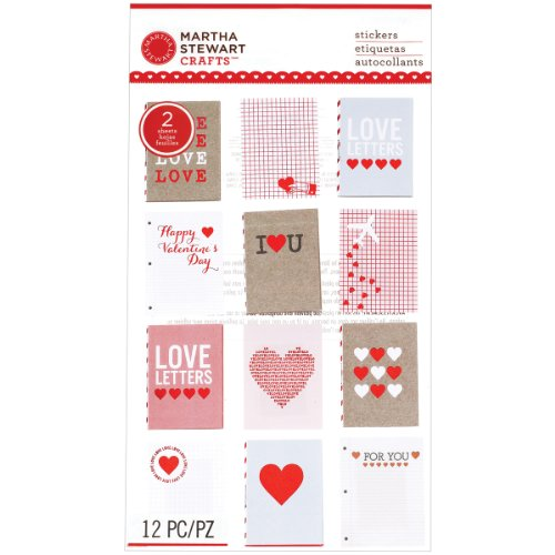 Martha Stewart Crafts Lovenotes Layered Mailbox Stickers (Layered Chipboard Tags)