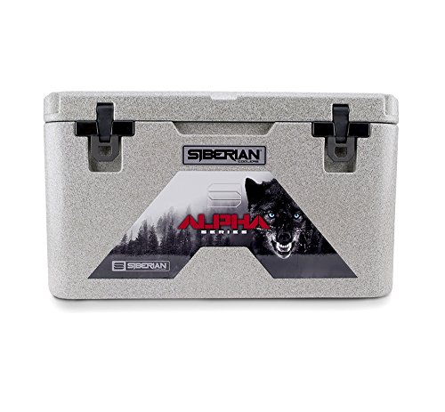 Siberian Coolers Alpha Pro Series 45 Quart in Granite Bear Resistant Includes (Pro Ice Series)