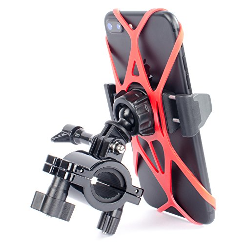 Bike Phone Holder and GoPro Mount for Motorcycle by Tackform Fits any Smartphone Bike Mount, iPhone...