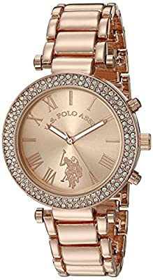 U.S. Polo Assn. Women's Quartz Rose Gold-Toned Dress Watch (Model: USC40170) from Accutime Watch Corp.
