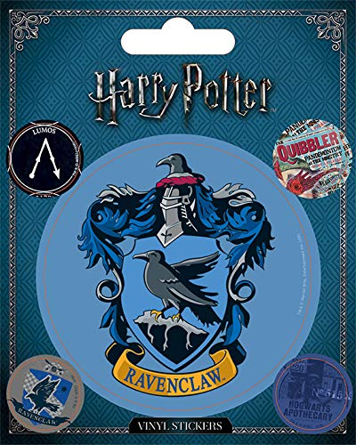 Wizarding World Harry Potter-Ravenclaw - Vinilo adhesivo, multicolor, 10 x 12,5 cm Pyramid International PS7389-Multi-Color-10 x 12.5cm