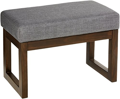 Simpli Home 3AXCOT-252-SM-GL Milltown Small Ottoman Bench in