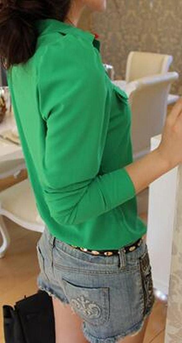 ouliu mujeres moda coreano Slim Fit cuello bolero blusas: Amazon.es: Ropa y accesorios