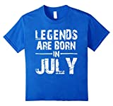 Legends Are Born In JULY Shirt 12 Royal Blue