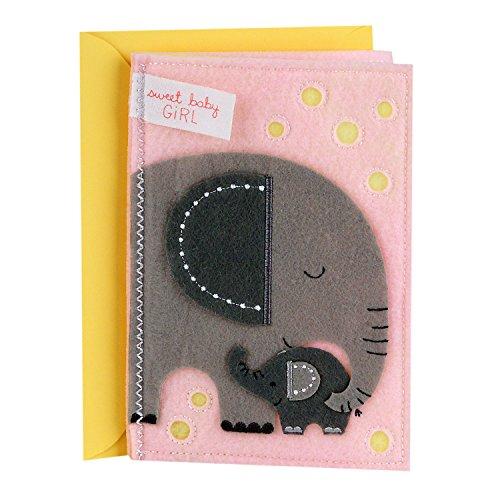Hallmark Signature New Baby Greeting Card (Sweet Baby Girl)