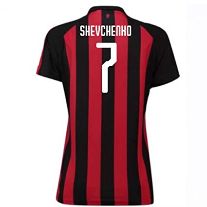 Image Unavailable. Image not available for. Color  2018-2019 AC Milan Puma  Home Womens Football Soccer T-Shirt ... 7bfb34554