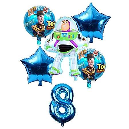 ZJWDM Toy Buzz Lightyear Globos 6 Unids/Set Lámina De ...