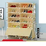 MCUWEHGFET Simple Shoes Solid Wood Shoe Cabinet Modern Minimalist Shoe Assembly,The Economy,dust-Proof Plastic Shoe Rack Storage Shelf-T