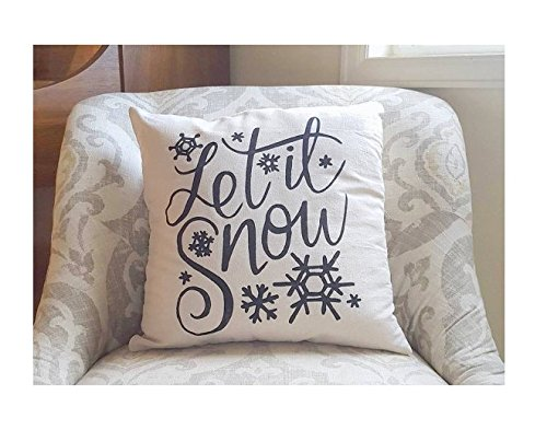 Let it Snow - Holiday Pillow - Christmas Pillow Cover - Christmas Pillow - Christmas Gift - Holiday Decor - Christmas Decor - Pillow Covers - Gift for Friends - 16x16 (Diy Snow Cone Syrup)
