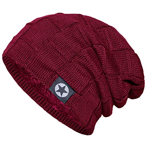 Senker Beanie Hat Winter Warm Cap Soft Thick Slouchy Knit Hats for Men and  Women c6086a9894e1