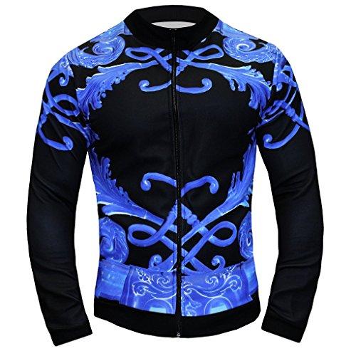 - Danny Miami Men's Designer Tracksuit - Jacket in Crown Blue (Large)