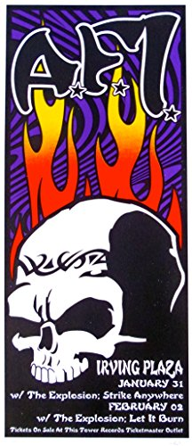AFI Poster w/The Explosion, Strike Anywhere, Let It Burn 2003 Concert