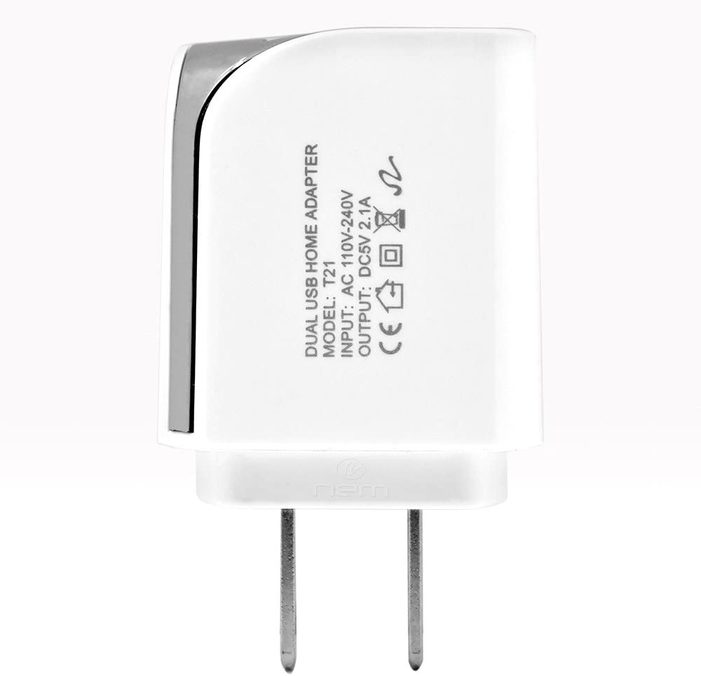 Accessory Kit 3 in 1 Charger Set for LG Premier Pro LTE Cell Phones 2.1 Amp USB Car Charger and Dual USB Wall Adapter + 5 Feet Micro USB Cable White