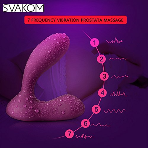 XURO Vibrating Anal Plug Prostate Massager Rechargeable Waterproof Anal Sex Toys Silicone 7 Stimulation Modes Vibrator for Men Women 1pcs by Xuro-AV