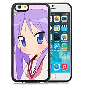 Popular And Unique Designed Cover Case For iPhone 6 4.7 Inch TPU With Anime Girl Kisuta Little Meal Background black Phone Case