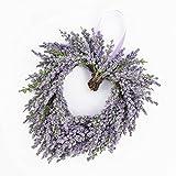 Decorative Lavender heart, violet, Ø 8' / 20 cm - Decorative wreath / Artificial lavender - artplants