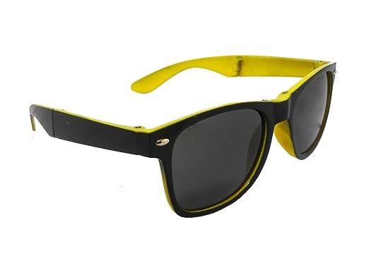 d166ec5c26 Ar Black   Yellow Folding Wayfarer Sunglasses For Kids Mod- P47 ( Only for 5