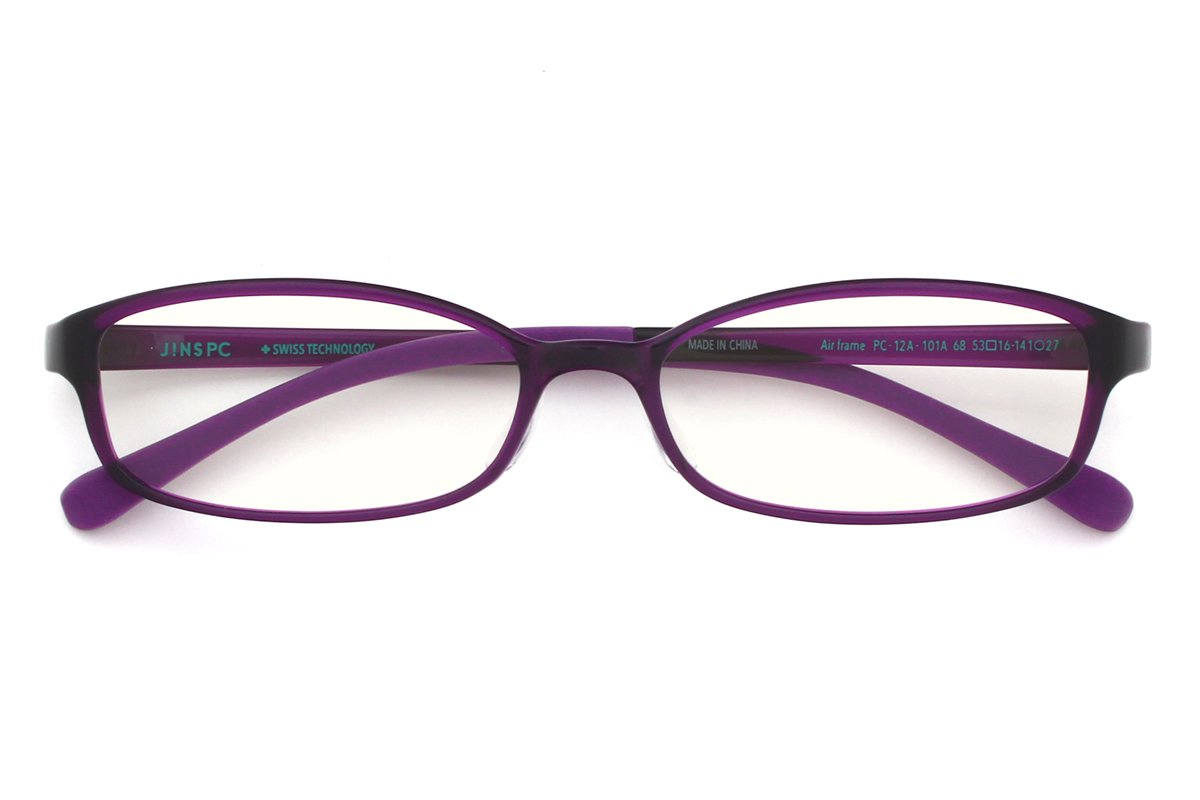 5e665997b5 Amazon.com: JINS PC Glasses Computer Eyewear Purple (Clear Lenses, Cuts  blue Light by 38%): Cell Phones & Accessories