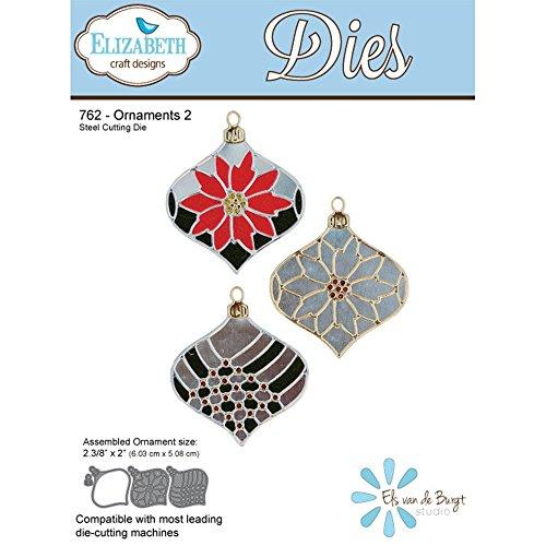 Elizabeth Craft Designs EC762 Elizabeth Craft Metal Die, Ornament Set 2 (Scrapbooking Ornament)