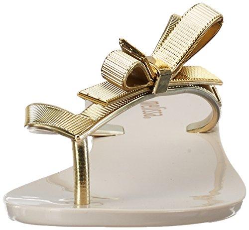 Melissa Melissa Harmonic Chrome - Sandalias con cuña Mujer Beige (Beige/Gold)