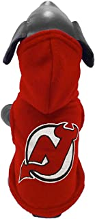 product image for All Star Dogs NHL Unisex NHL New Jersey Devils Polar Fleece Hooded Dog Sweatshirt