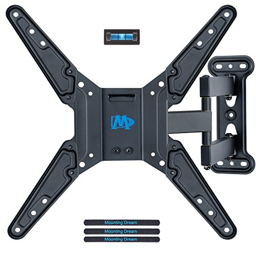 Screen Tilting Wall Mount (Mounting Dream MD2413-MX TV Wall Mount Bracket for most of 26-55 Inch LED, LCD, OLED Flat Screen TV with Full Motion Swivel Articulating Arm, up to VESA 400x400mm and 60 LBS with Tilting)