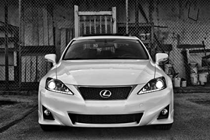 Lexus IS250 F Sport IS Front Black And White HD Poster Sports Sedan 24 X