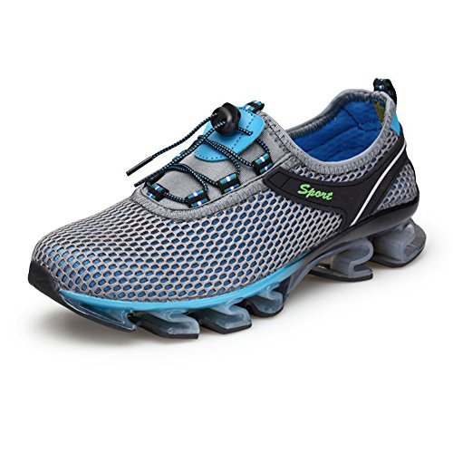 Running Shoes Men Slip On Mesh Casual Breathable Fashion Stylish Sneakers Athletic Shoes By Gomnear,Grey-46