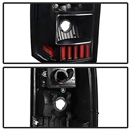- C-Shape LED s - Black Does Not Fit Stepside Xtune ALT-ON-CS03-G2-LED-BK Tail Light Chevy Silverado 1500-2500-3500 03-06