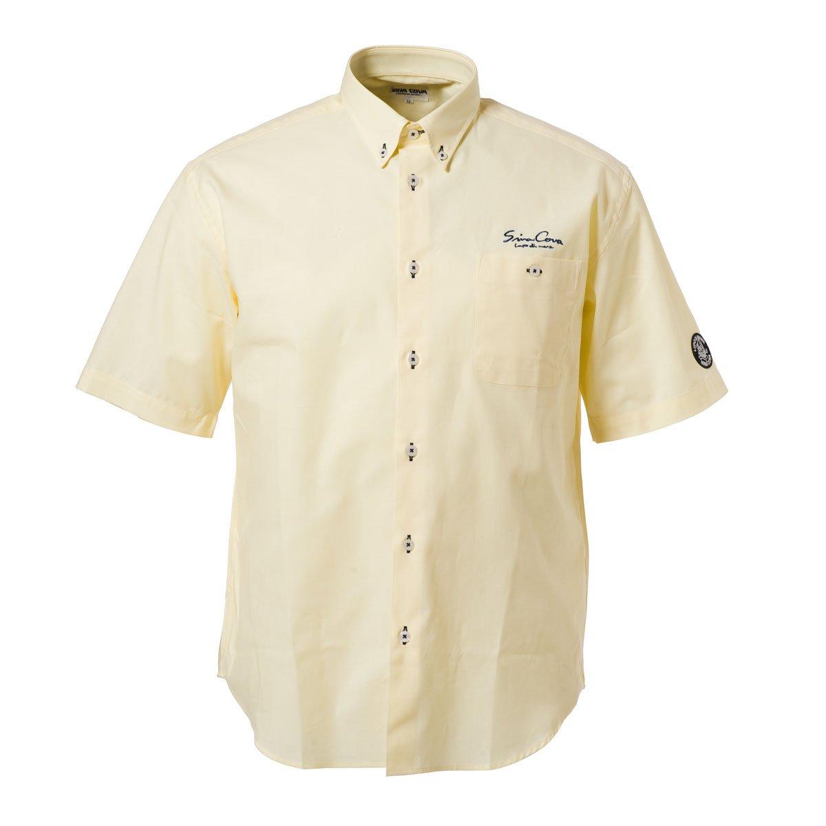Cova SINACOVA 18124510 Men's Short Sleeve Shirt Yellow Medium by Cova (Image #1)
