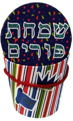 Purim Gift Basket Round Cardboard
