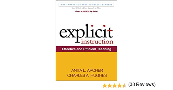 Amazon.com: Explicit Instruction: What Works for Special-Needs ...