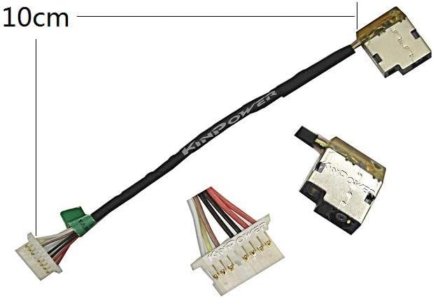 KINPOWER DC Jack Connecteur Alimentation pour HP 15 Series 15-DA 15-DB Ligne:10cm