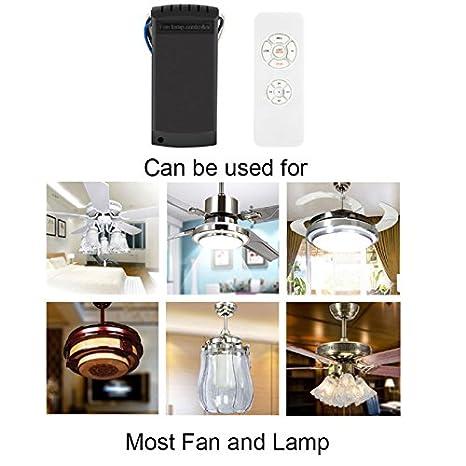 Crewell Mando Ventilador Techo universal, Kit de Mando a Distancia Universal para Lámparas de Techo, 110 - 220 V, 110v