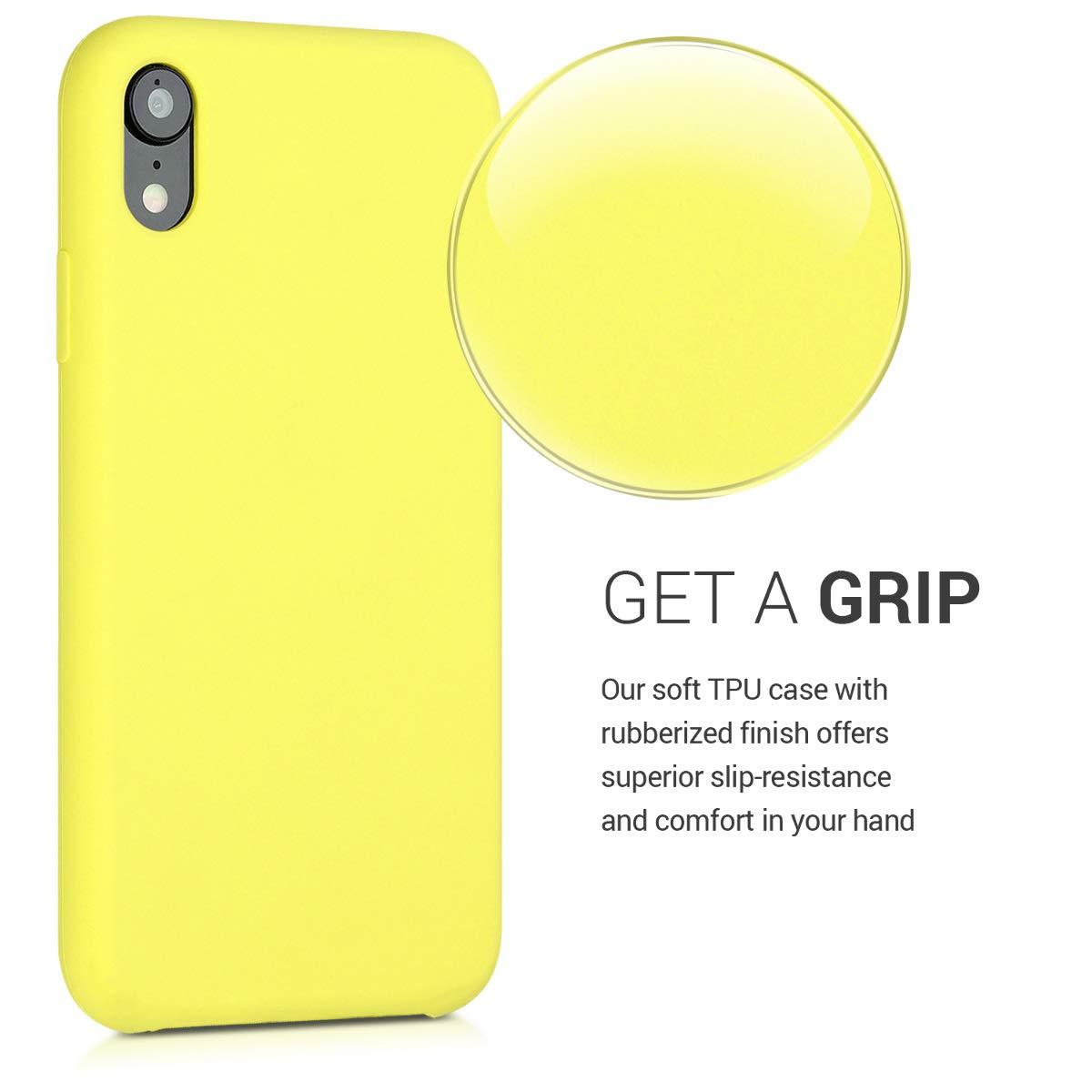 kwmobile Coque Apple iPhone XR Housse de t/él/éphone en Silicone Blanc Coque pour Apple iPhone XR