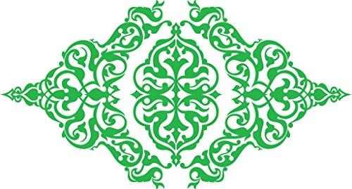 Medallion Lime (Chic Walls Removable Oriental Vintage Middle Eastern Pattern Medallion Elegant Wall Art Decor Decal Vinyl Sticker 23