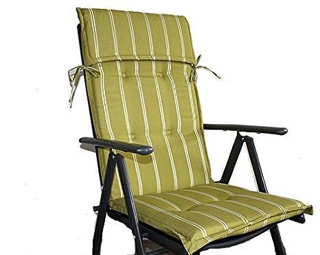 Cuscini Con Schienale Per Sedie Da Esterno : Unbekannt cuscino per sedia da giardino sunny comfort limette con