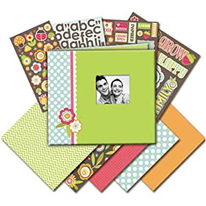 K&Company 8-1/2-Inch by 8-1/2-Inch Mega Scrapbook Kit, Fruit and Flower