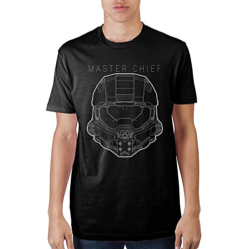 Halo Master Chief Black T-Shirt-XL