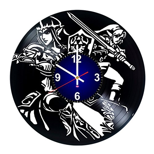 Handmade Video Game – Beauty present for men and boys – Art Vinyl Record Wall Clock – Unique Decoration