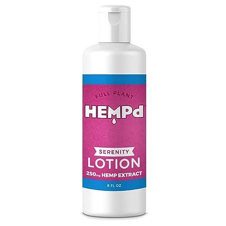 HEMPd Full Plant Hemp Extract Serenity Lotion, 250 mg. per 8 fl oz. Bottle