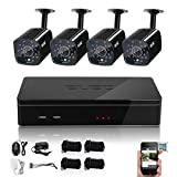 ELEC 4H 960H DVR with 4PCS 1500TVL Surveillance Camera Outdoor Home Security Video System 18PCS IR-LEDs no Hard Drive