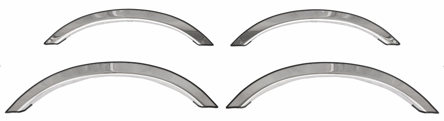 ICI FOR-075 Stainless Steel Full Fit Fender Trim for Ford/Lincoln 4-Door with Narrow Trim Flare - 4 Piece